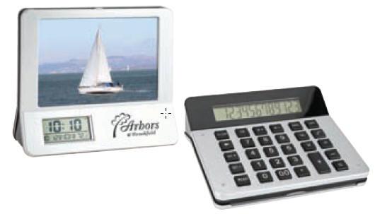 3-in-1 Calculator/Picture Frame /LCD Digital Clock